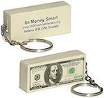 100 Dollar Bill Key Chain Stress Balls